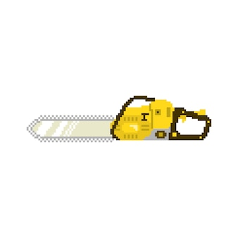 Chainsaw in 8 bit game style in vector