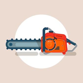 Chainsaw icon, chain saw vector pictogram, icon isolated on white, flat vector illustration