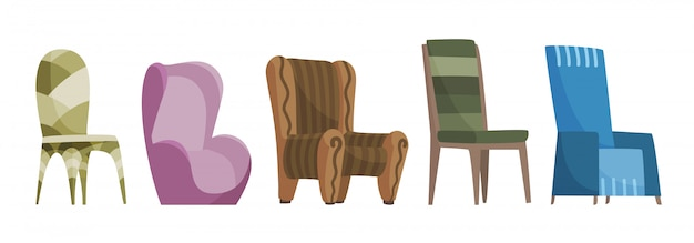 Chair comfortable seat set for interior style.