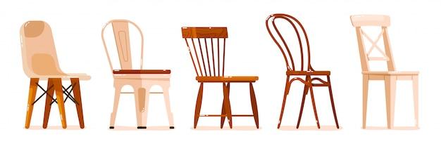 Комплект мебели для стула на белом фоне