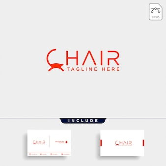 Chair logo isolated