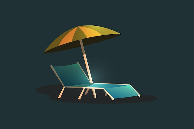 Chair and umbrella summer elements 2021