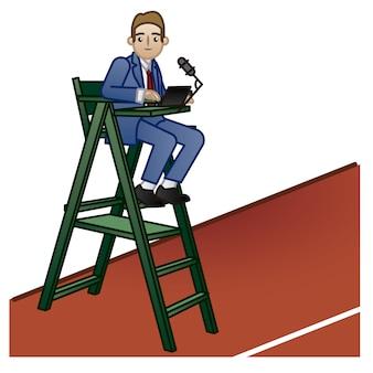 Chair umpire background