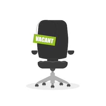 Chair with job vacancy