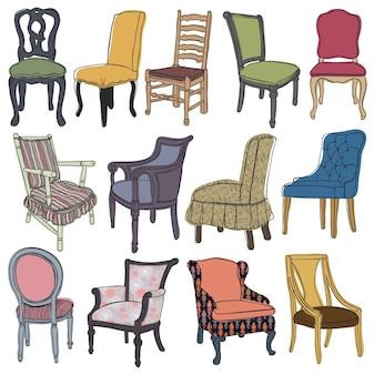 의자 및 안락 의자 세트