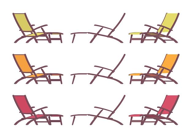 긴 의자 세트, 여름 휴가 안락 의자