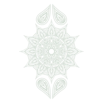 Chakra anahata for henna tattoo and for your design.  illustration