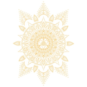 Chakra manipura for henna tattoo and for your design.  illustration