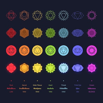 Chakras colorful collection