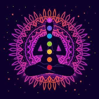 Chakras concept illustrated