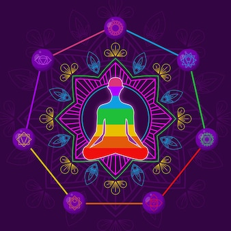 Chakras concept illustration