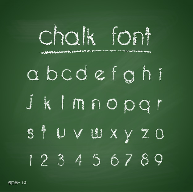 Мел-алфавит. ретро-тип font.letters. типография для вашего дизайна. векторная иллюстрация e