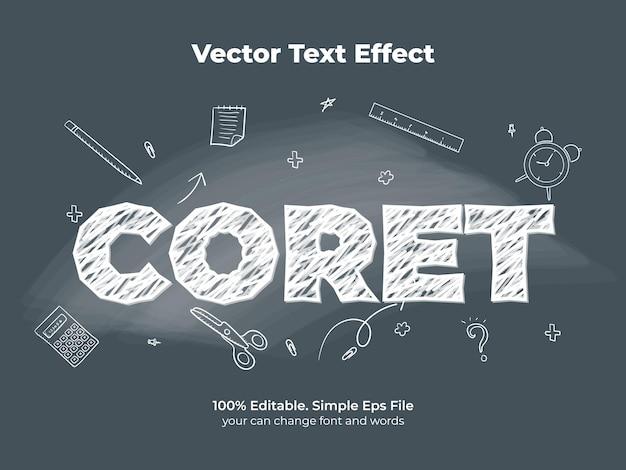Эффект текста на доске мелом