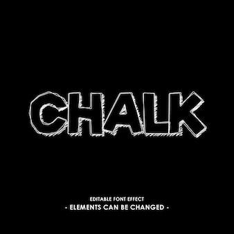Chalk font effect