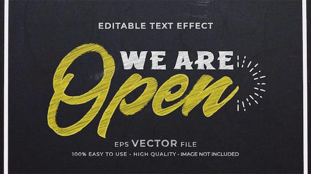 Редактируемый текстовый эффект мелового знака