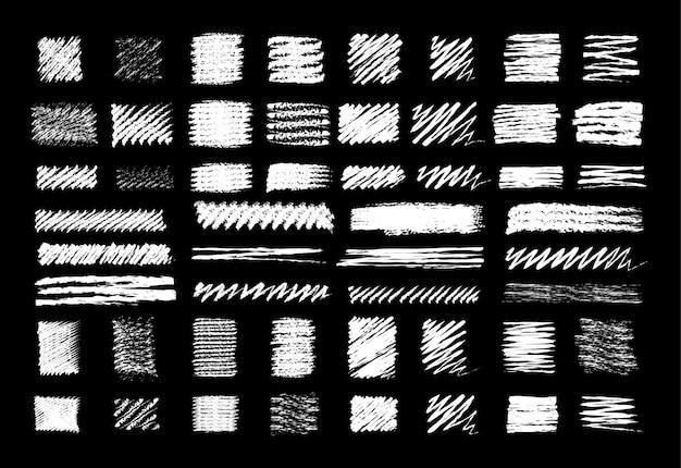 Набор рисованной каракули маркером в стиле мела