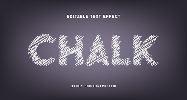 Chalk text effect premium , editable text