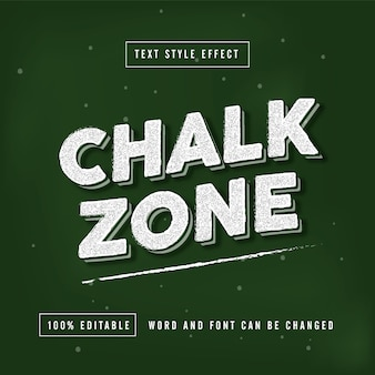Chalk zone text effect editable