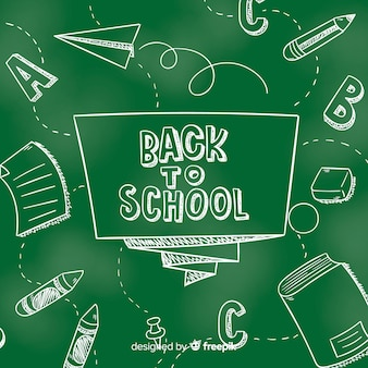 Chalkboard back to school background