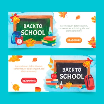 Chalkboard back to school banners
