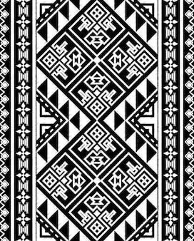 Chalkboard doodle tribal aztec seamless pattern