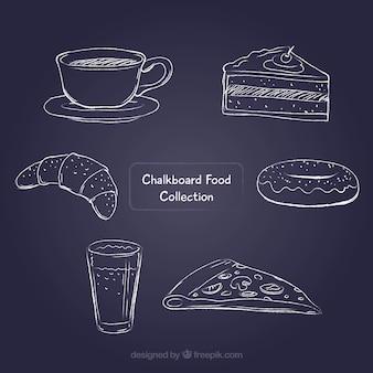 Raccolta di cibo lavagna