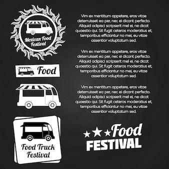 Chalkboard food festival poster design