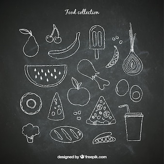 Chalkboard food set