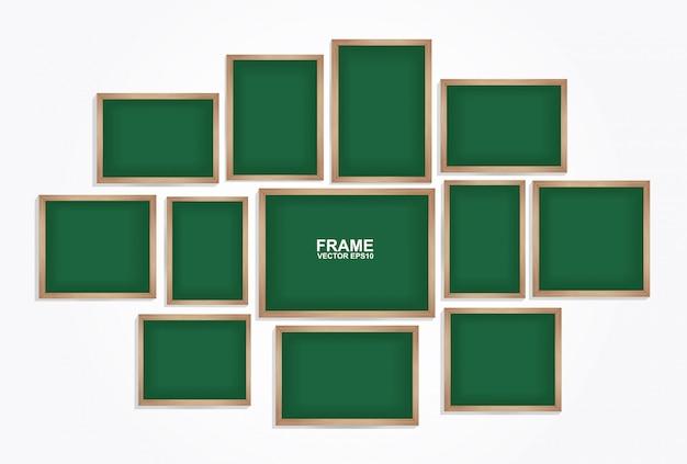 Chalkboard frame  . photo art gallery