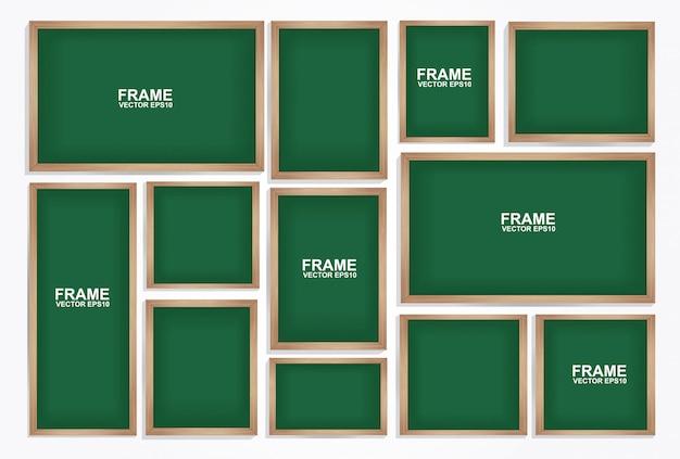 Chalkboard frame. photo art gallery
