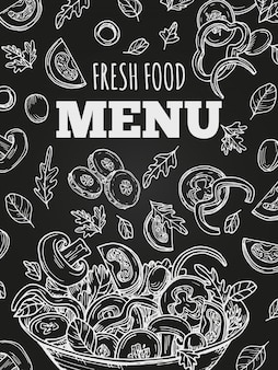 Chalkboard fresh food menu template