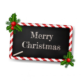 Chalkboard style greeting card for christmas