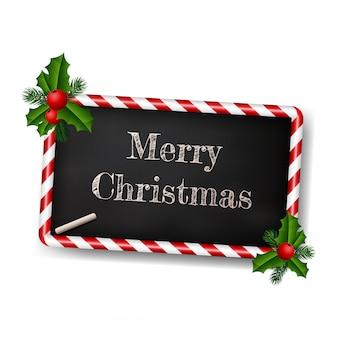 クリスマスのための黒板スタイルのグリーティングカード