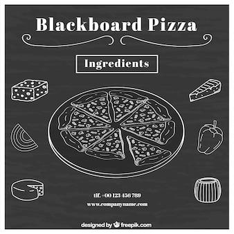 피자 재료로 칠판