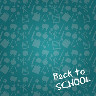 Chalkboard with sillhouette back to school background