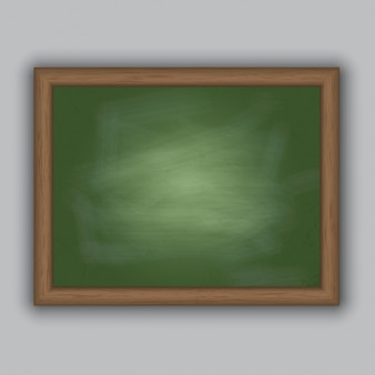 Chalkboard with a wooden frame Free Vector