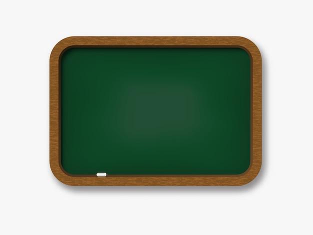 Chalkboard wooden realistic .
