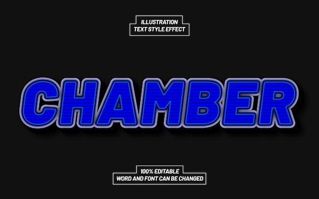 Chamber 3d bold text style effect
