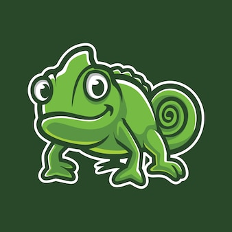 Chameleon esport logo illustration