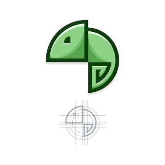 Chameleon grid logo