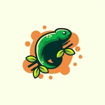 Chameleon illustration design