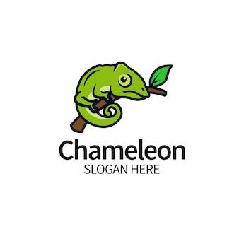Chameleon logo design template