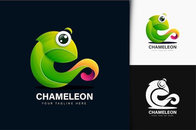 グラデーションのカメレオンロゴデザイン