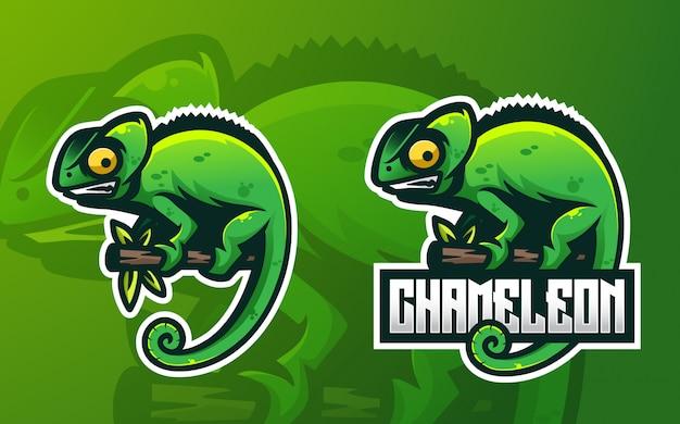 Chameleon mascot esport logo