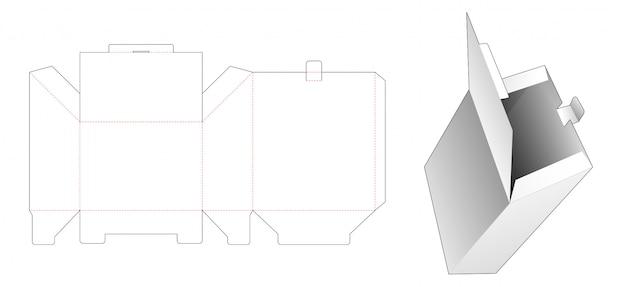 Вырубной шаблон флип-бокса с фаской
