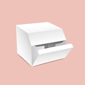 Макет упаковочной коробки с фаской