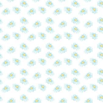 カモミールまたはデイジーのシームレスパターン