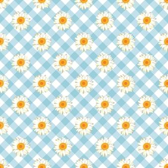 カモミールのシームレスなパターン。