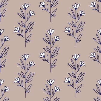 Chamomile vintage pattern. flowers seamless pattern