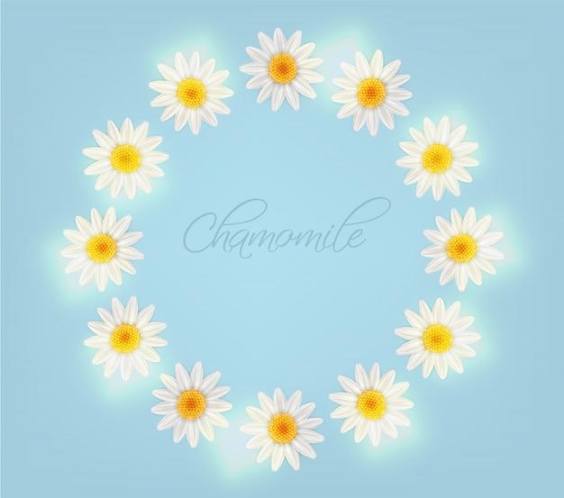 Chamomile wreath card